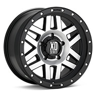 KMC XD Series XD128 Machined w/Black Accent Wheels