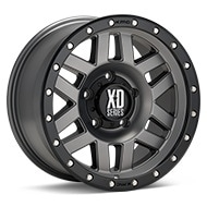 KMC XD Series XD128 Matte Grey w/Black Lip Wheels
