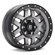KMC XD Series XD128T Matte Grey w/Black Lip Wheels