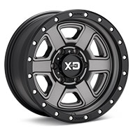 KMC XD Series XD133 Grey w/Black Lip Wheels