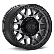 KMC XD Series XD135 Grenade OR Matte Grey w/Black Lip Wheels