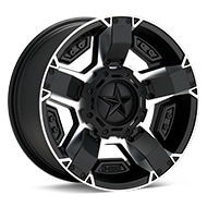 KMC XD Series XD811 Rockstar II Machined w/Satin Black Accent Wheels