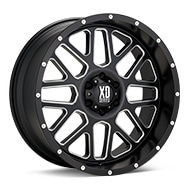 KMC XD Series XD820 Grenade Black w/Milled Accent Wheels