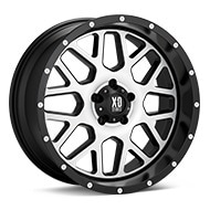 KMC XD Series XD820 Grenade Machined w/Black Accent Wheels