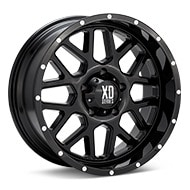 KMC XD Series XD820 Grenade Gloss Black Painted Wheels