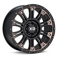 KMC XD Series XD829 Black Machined w/Dark Tint Wheels