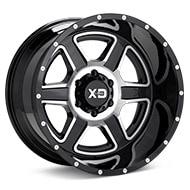 KMC XD Series XD832 Machined w/Black Accent Wheels