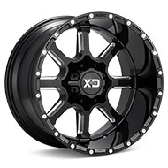 KMC XD Series XD838 Mammoth Black w/Milled Accent Wheels