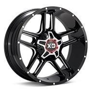 KMC XD Series XD839 Clamp Black w/Milled Accent Wheels