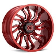 XD Wheels XD858 Tension Candy Red w/Milled Accent Wheels